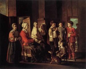 Les  frères Le Nain, témoins de leur siècle dans Arts 0032-0195_besuch_bei_der_grossmutter-300x239